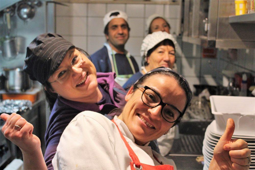 Le Campestre – Eulalia Parillo e lo staff in cucina
