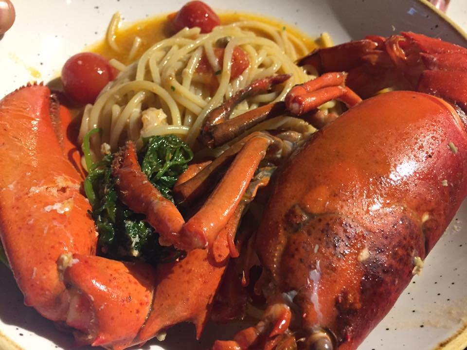 Pescorante 'O Lupino, spaghetti all'astice