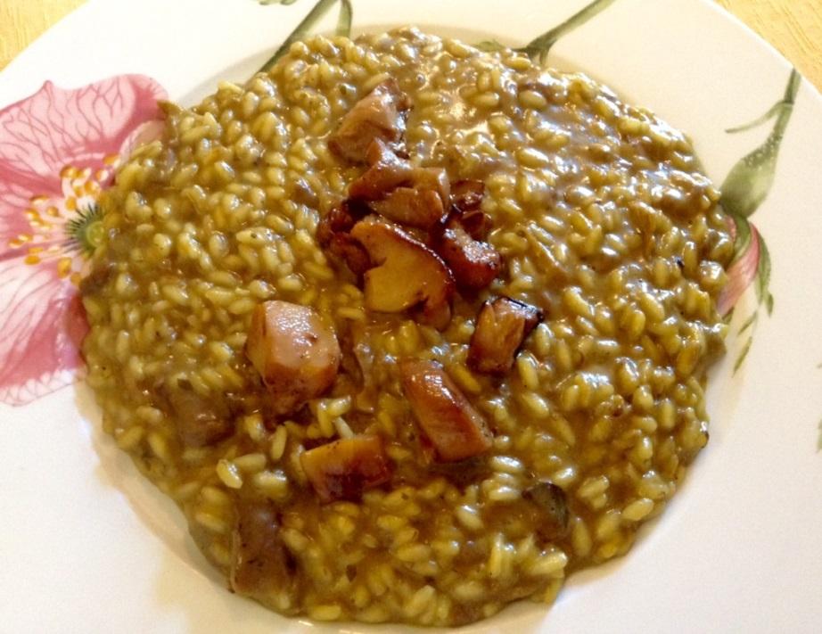 Buona Condotta, Ornago, risotto con funghi porcini freschi e secchi