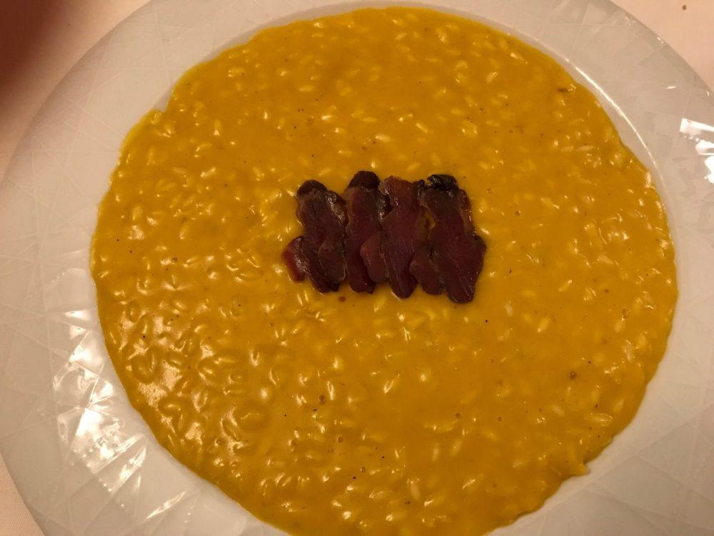 Buona Condotta, Ornago, risotto con zucca mantovana e speck d'anatra