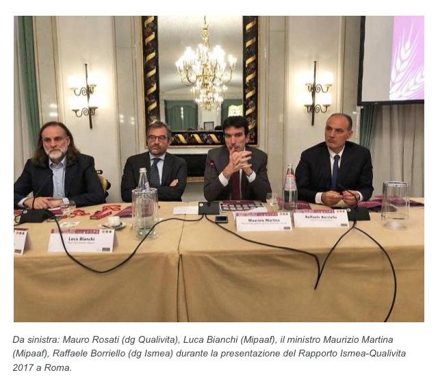Conferenza annuale Ismea- Qualivita Roma 2018