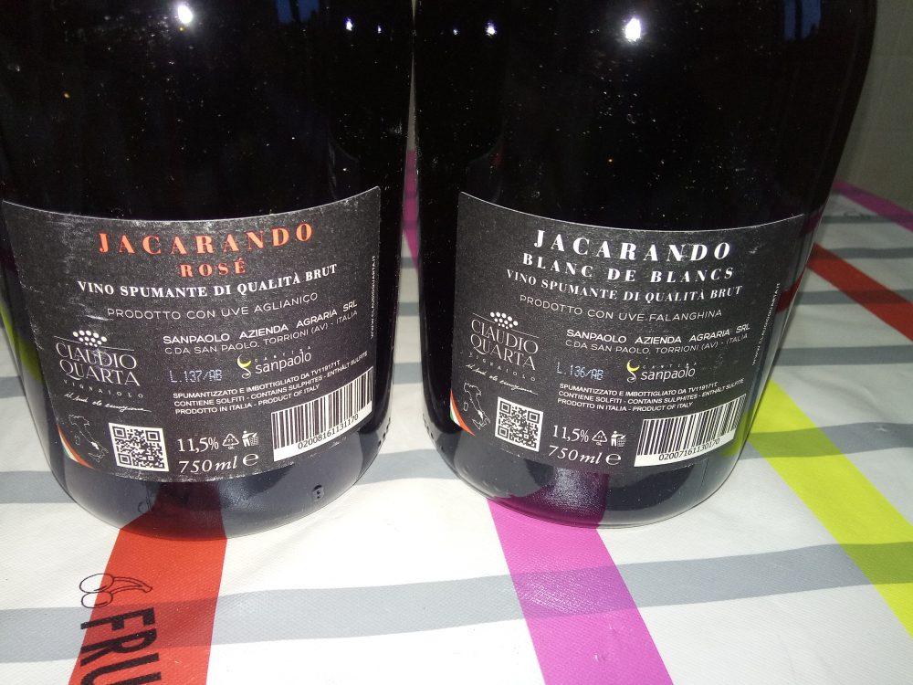 Controetichette Spumanti Bianco e Rose' Sanpaolo