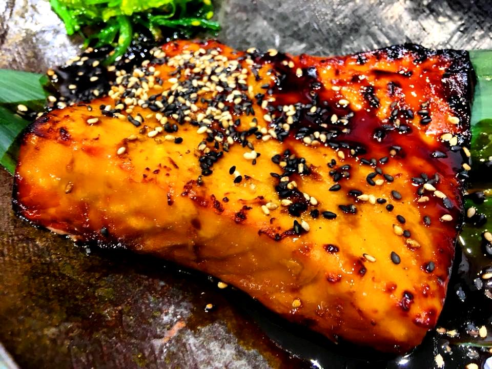 Zenbu, Orange Teriyaki Salmon
