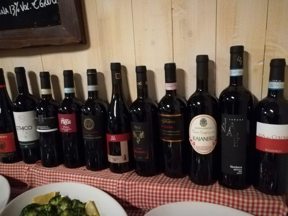 La Locanda della Pacchiana - Alcuni Vini disponibili.
