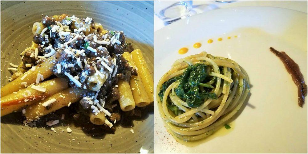 La Pergola, genovese di tonno e spaghetti con broccoli e alici salate
