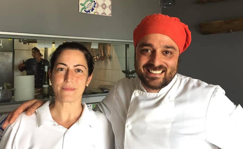La taverna del mozzo, lo chef Davide Mea con la moglie Assunta