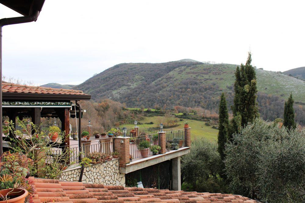 Le Campestre – il terrazzo e le colline circostanti
