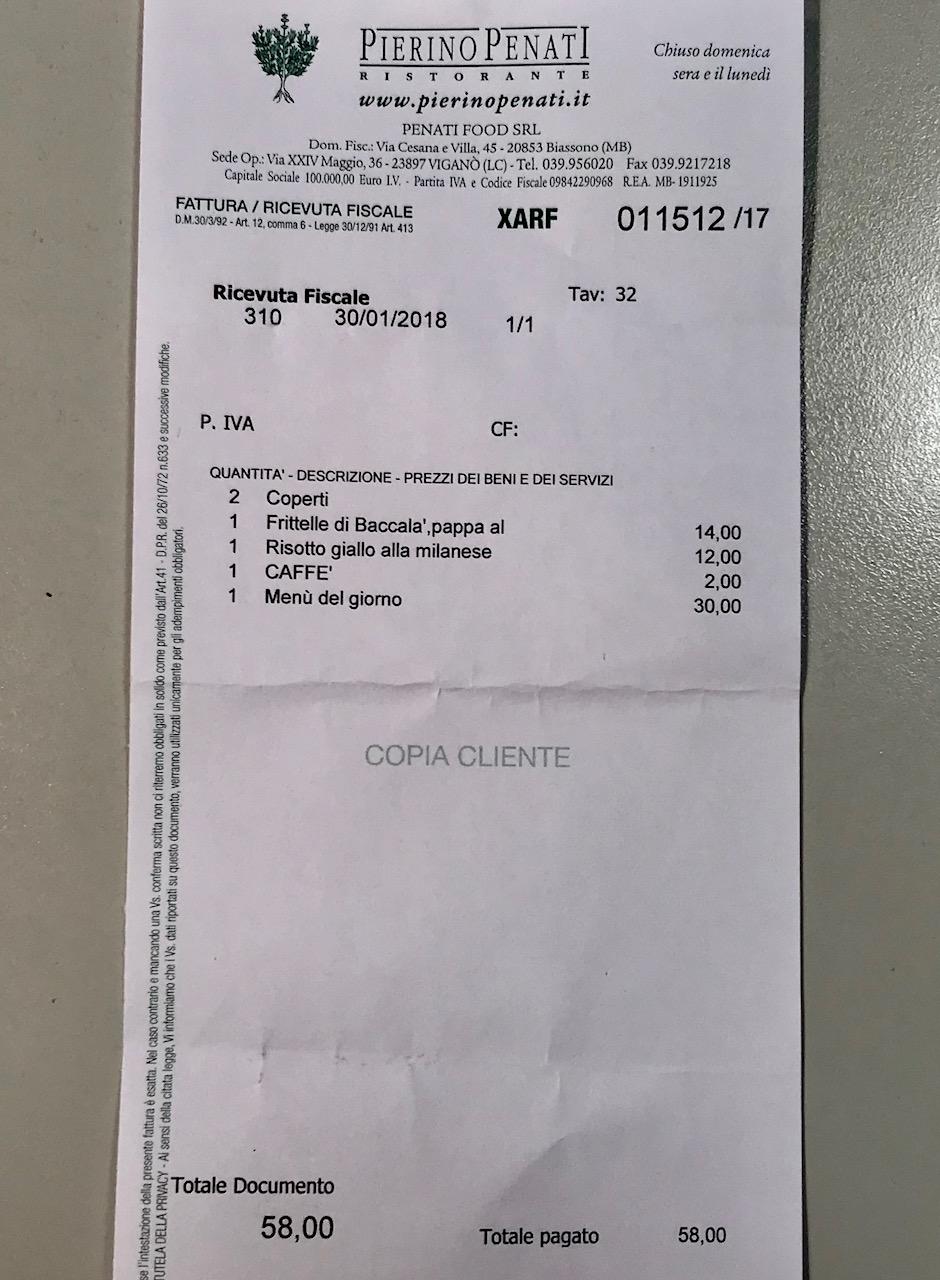 Il conto aperto non si lascia