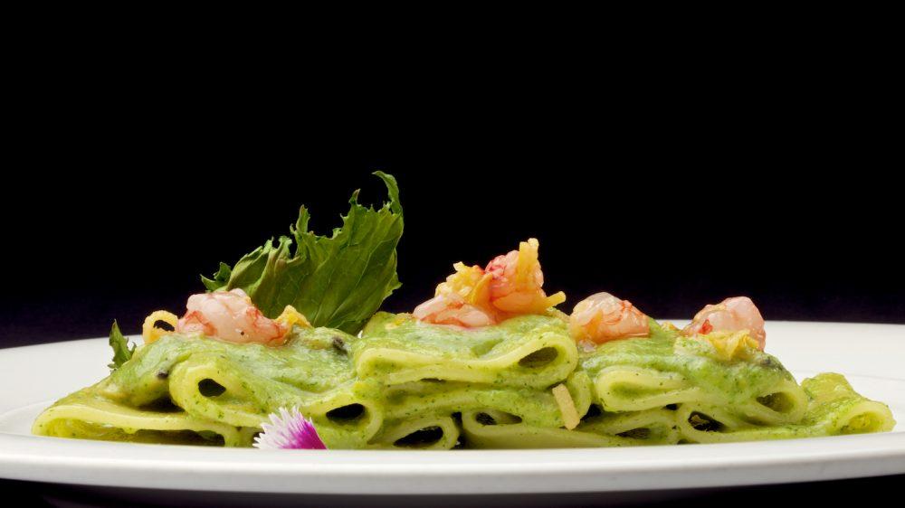 Paccheri Broccoli Vongole Limone e Gamberi di Nassa di Paolo Gramaglia