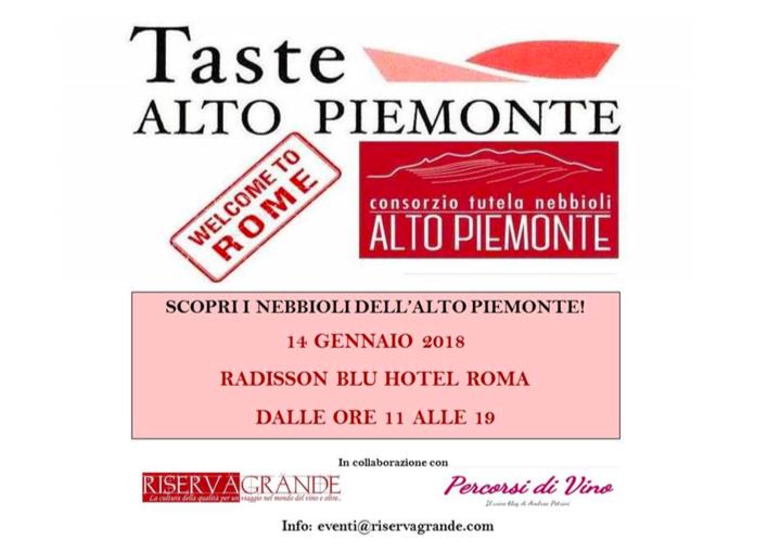 Taste Alto Piemonte a Roma