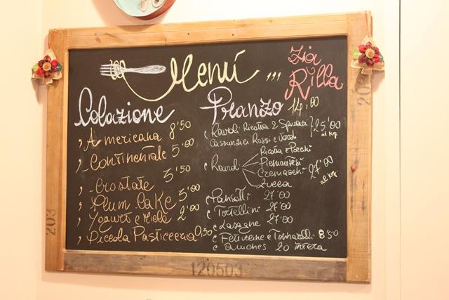 Zia Rilla - Il menu'