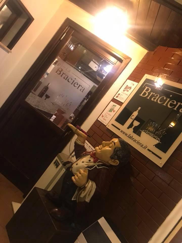 La Braciera, l'ingresso