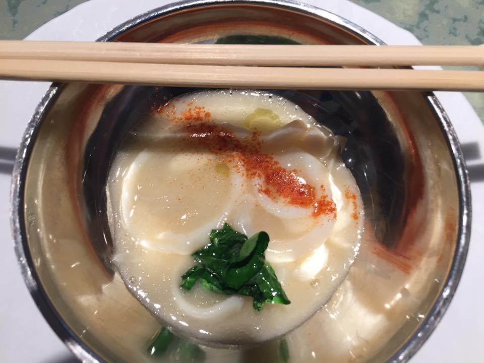 Disfrutar, noodles di cetriolo di mare alla gallega