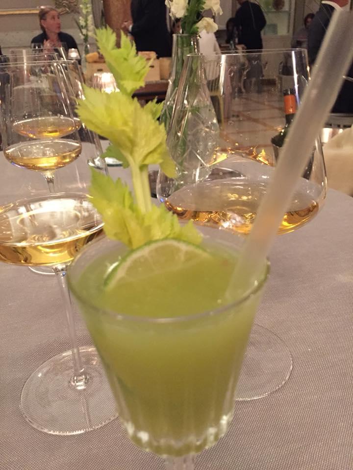 Enoteca La Torre, il drink al sorbetto di sedano