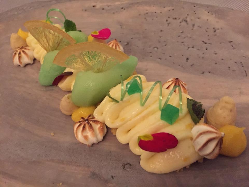 Enoteca La Torre, dessert alla crema chantilly, agrumi e wasabi