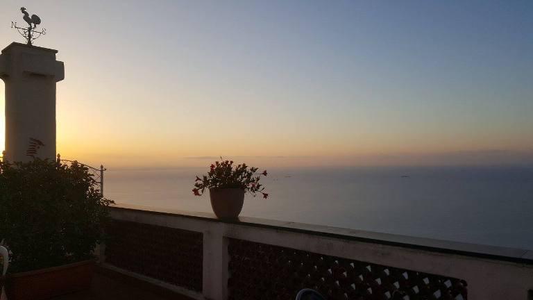 Bacco, vista al tramonto