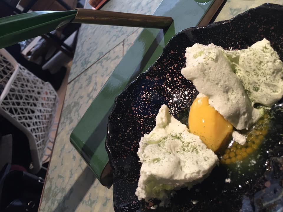 Disfrutar, dessert al pandan