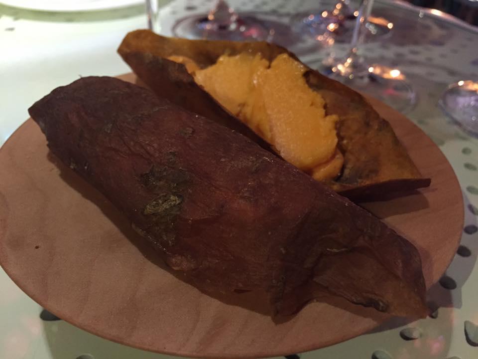 Tickets, il dessert con patata dolce e mandarino