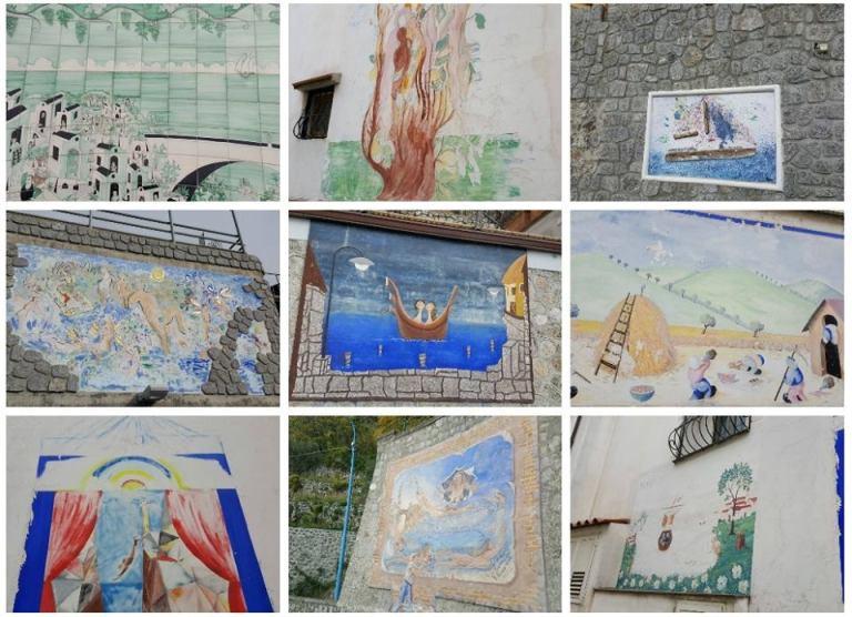 Furore, i muri dipinti