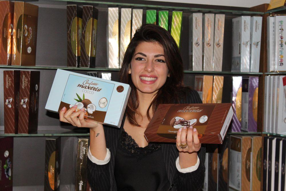 I confetti Maxtris si sposano con il cioccolato Caffarel