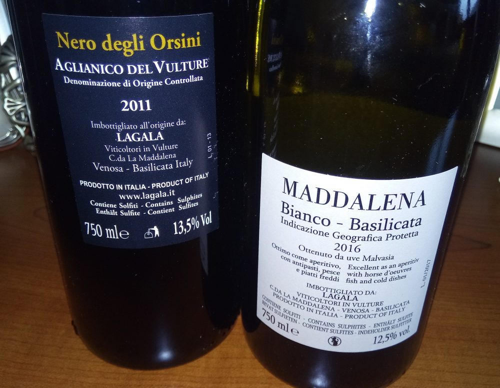 Controetichette Vini Lagala