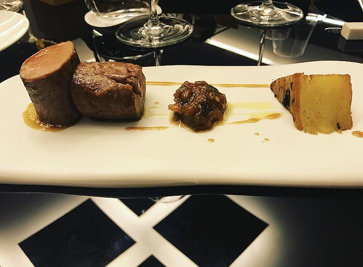 Corso Trieste Restaurant - Agnello con terrina di patate e mostarda di peperoni