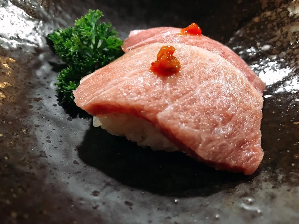 Aka Sushi, Nigiri di Otoro, Ventresca Dorsale di Tonno Rosso