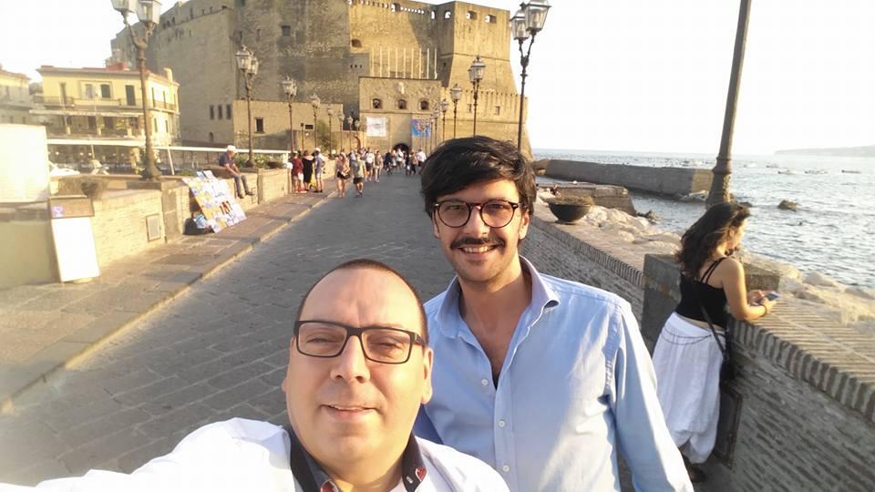 La Braciera, un selfie prima della premiazione di 50 Top Pizza a Napoli