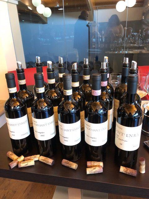 Le bottiglie della verticale 1998-2001-2004-2007-2010