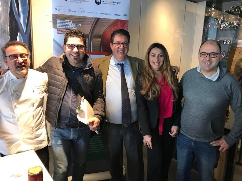 Lino Scarallo, Gianluca D'Agostino e Salvatore Bianco con Francesca Marino e Luciano Pignataro