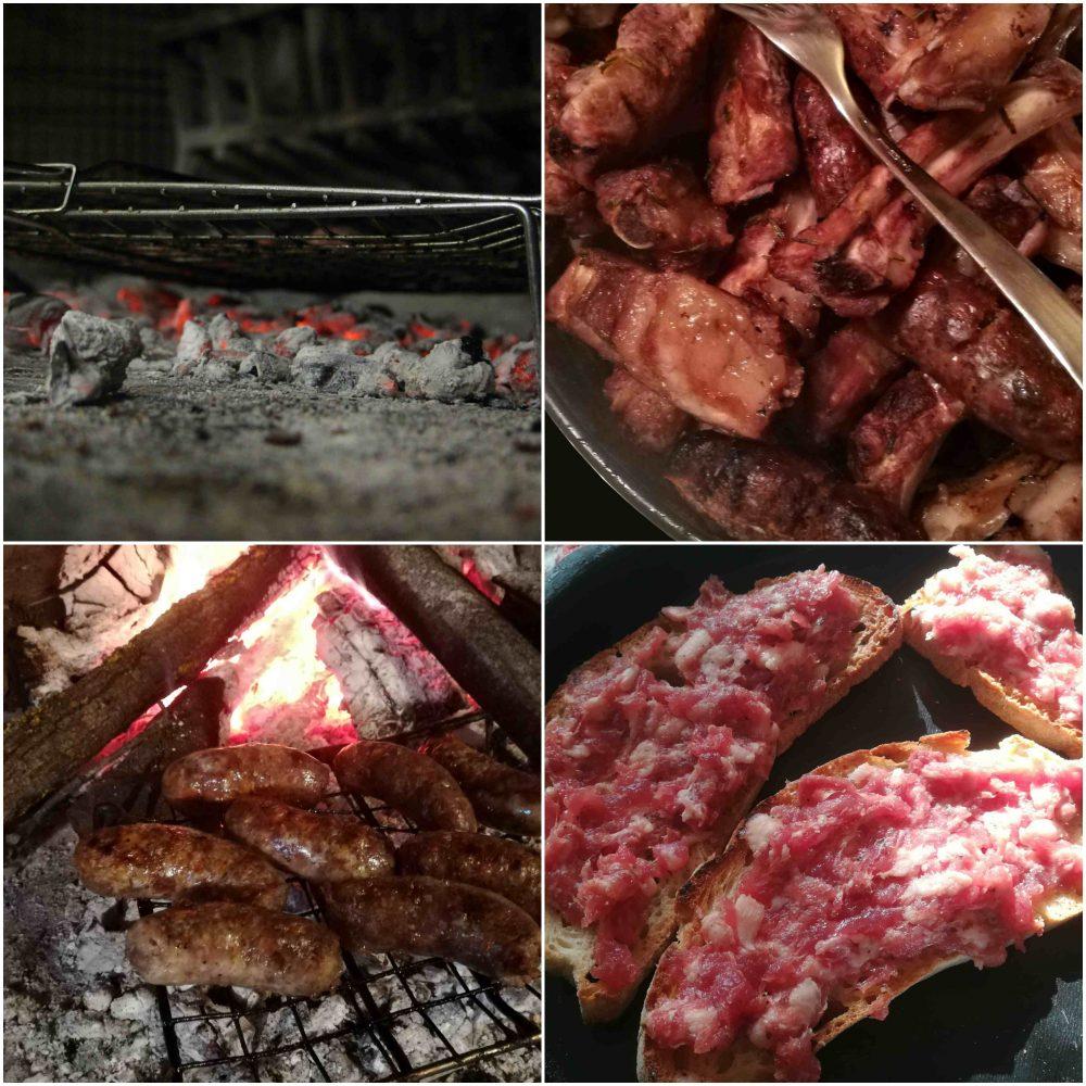 Menu 'di San Valentino - Griglia Ercolani, Salsicce griglia, Costine e salsicce e Crostino con salsiccia