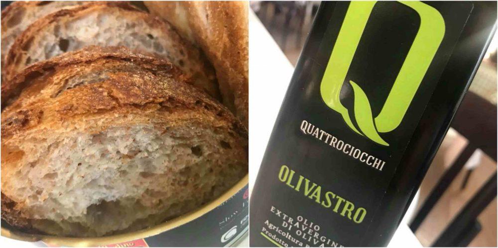 Nu' Trattoria Italiana, pane e olio