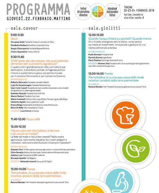 Terza edizione del Festival del Giornalismo Alimentare - Programma