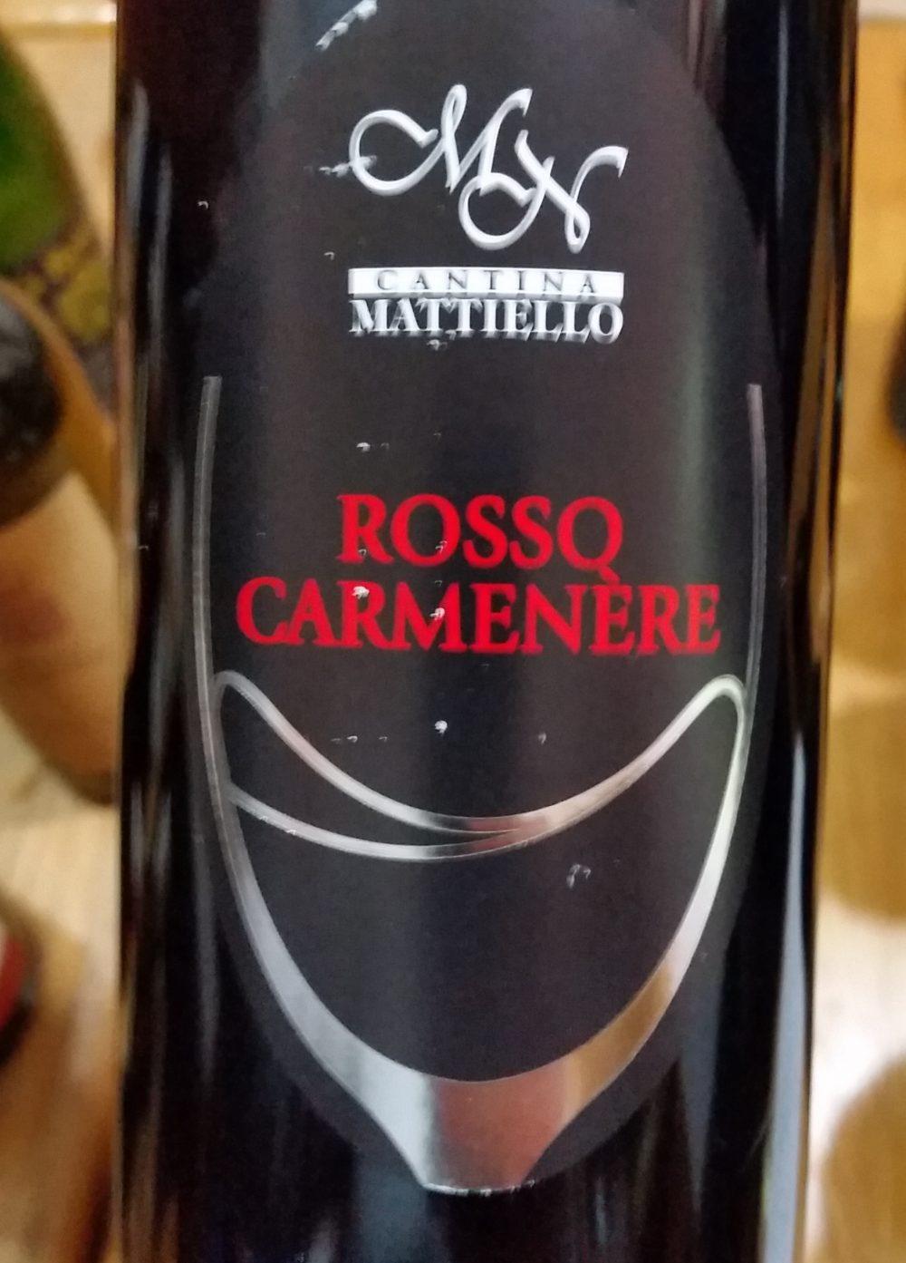 Rosso Carmenere Mattiello 2016