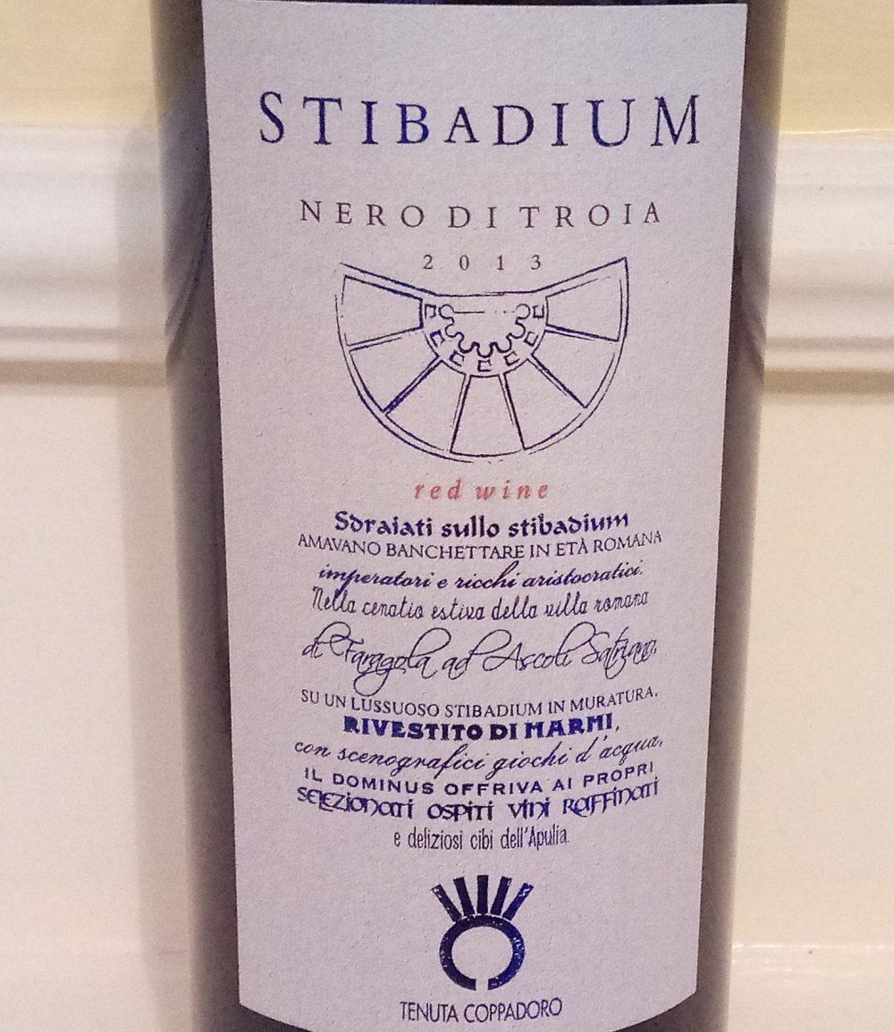 Stibadium Nero di Troia Puglia Igp 2013 Coppadoro