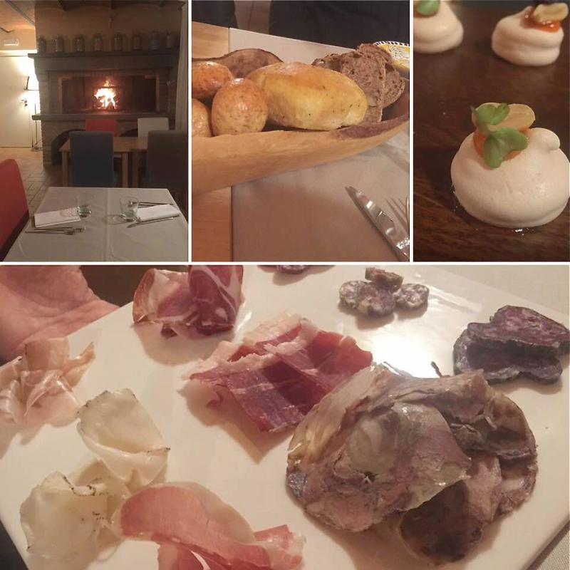 Tenuta Borgo Santa Cecilia, La sala, il pane, l'aptizer, i salumi artigianali