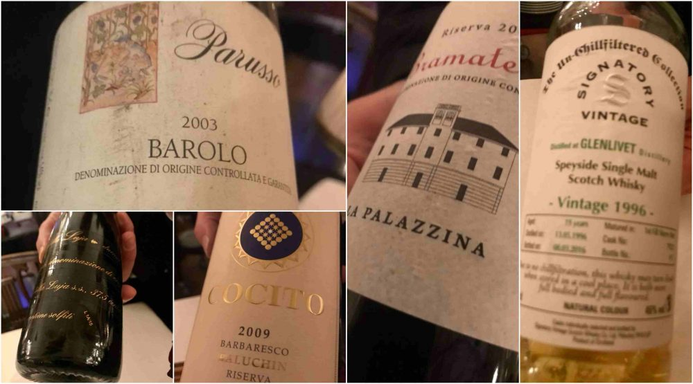Ristorante Dal Cambio a Torino. Vini e schotch whisky