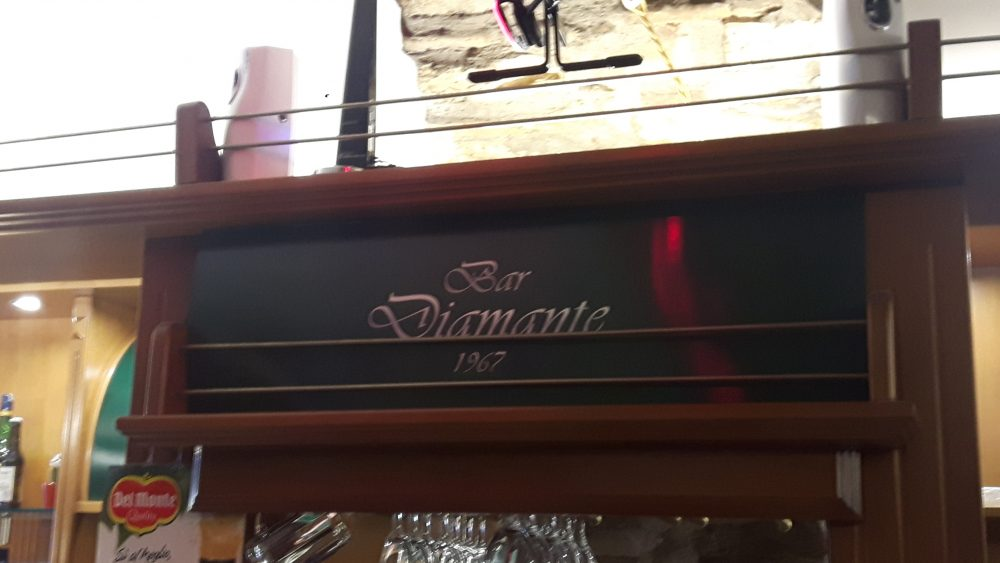 Insegna interna bar diamante