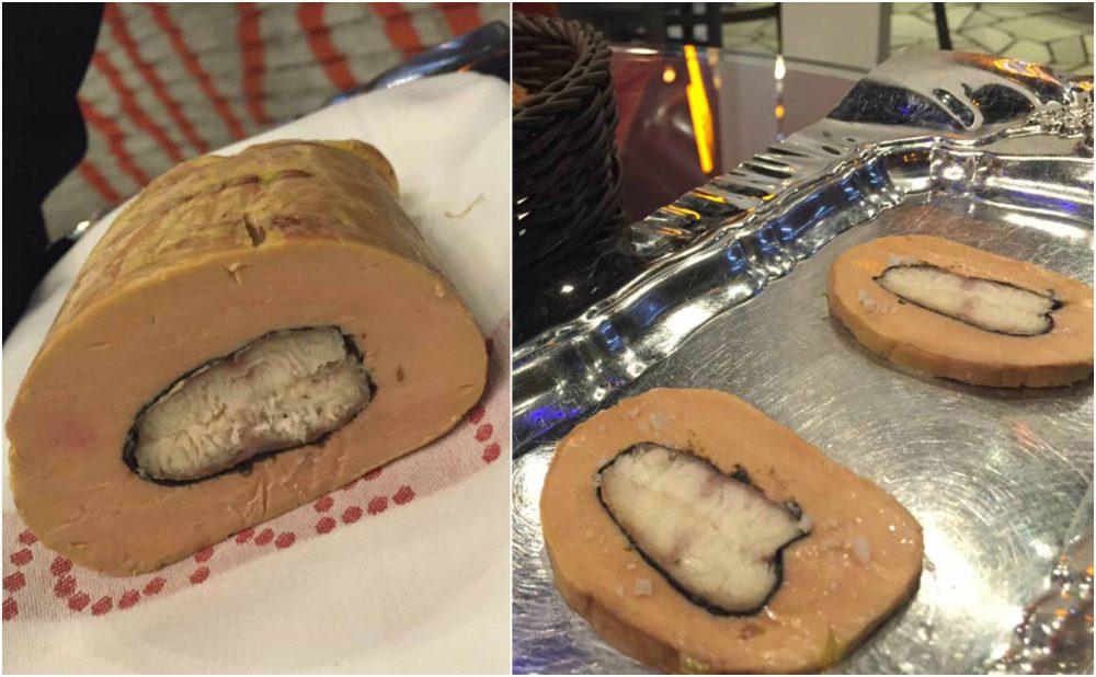 Tickets, foie gras con anguilla affumicata