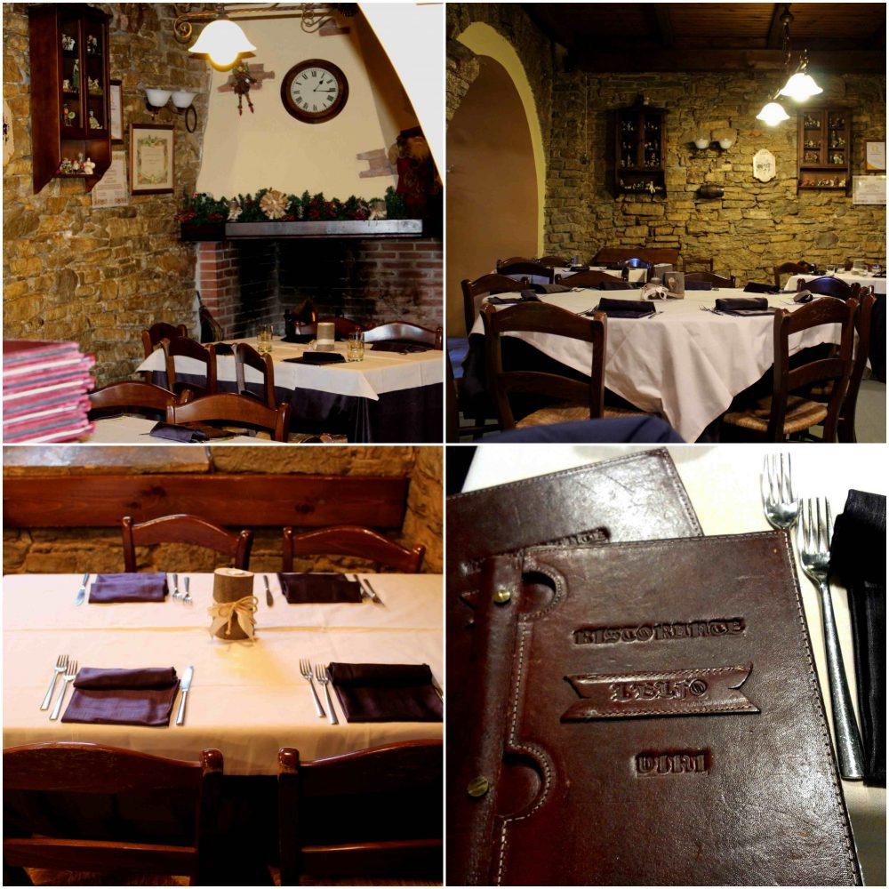 Osteria l'Elfo - la sala, il tavolo e il menu'