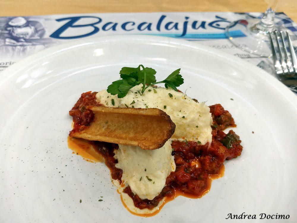 Bacalajuo' ad Acerra. Cannoli di Mais con Baccala' Mantecato e Papaccelle