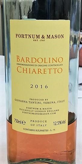 Bardolino Chiaretto - Tantini 2016