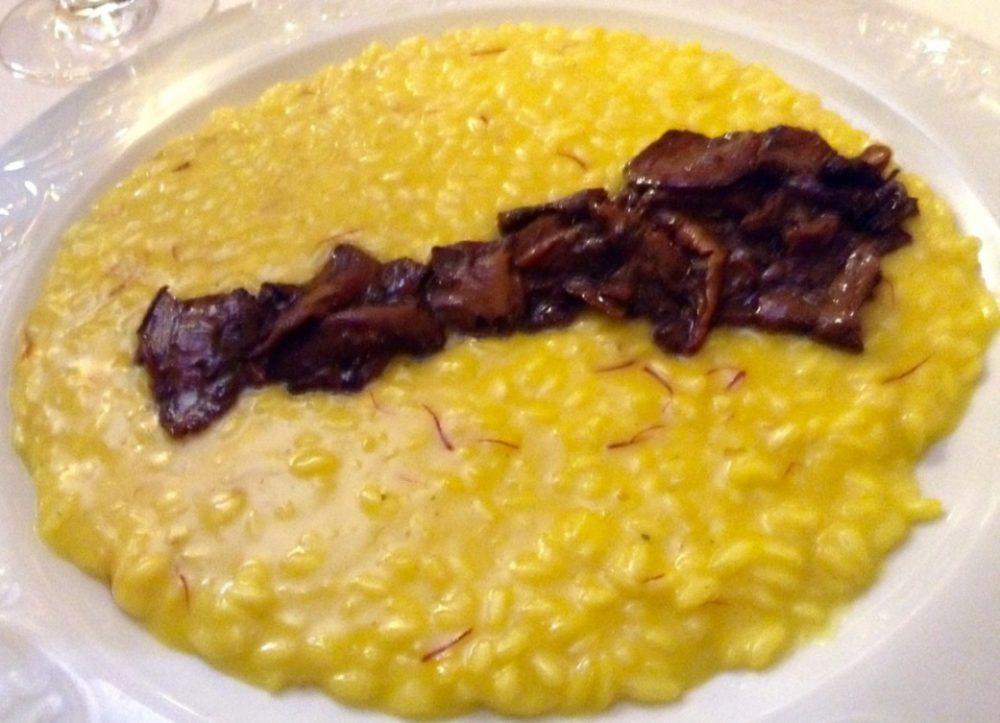 Buona Condotta, Ornago, risotto alla milanese con funghi secchi