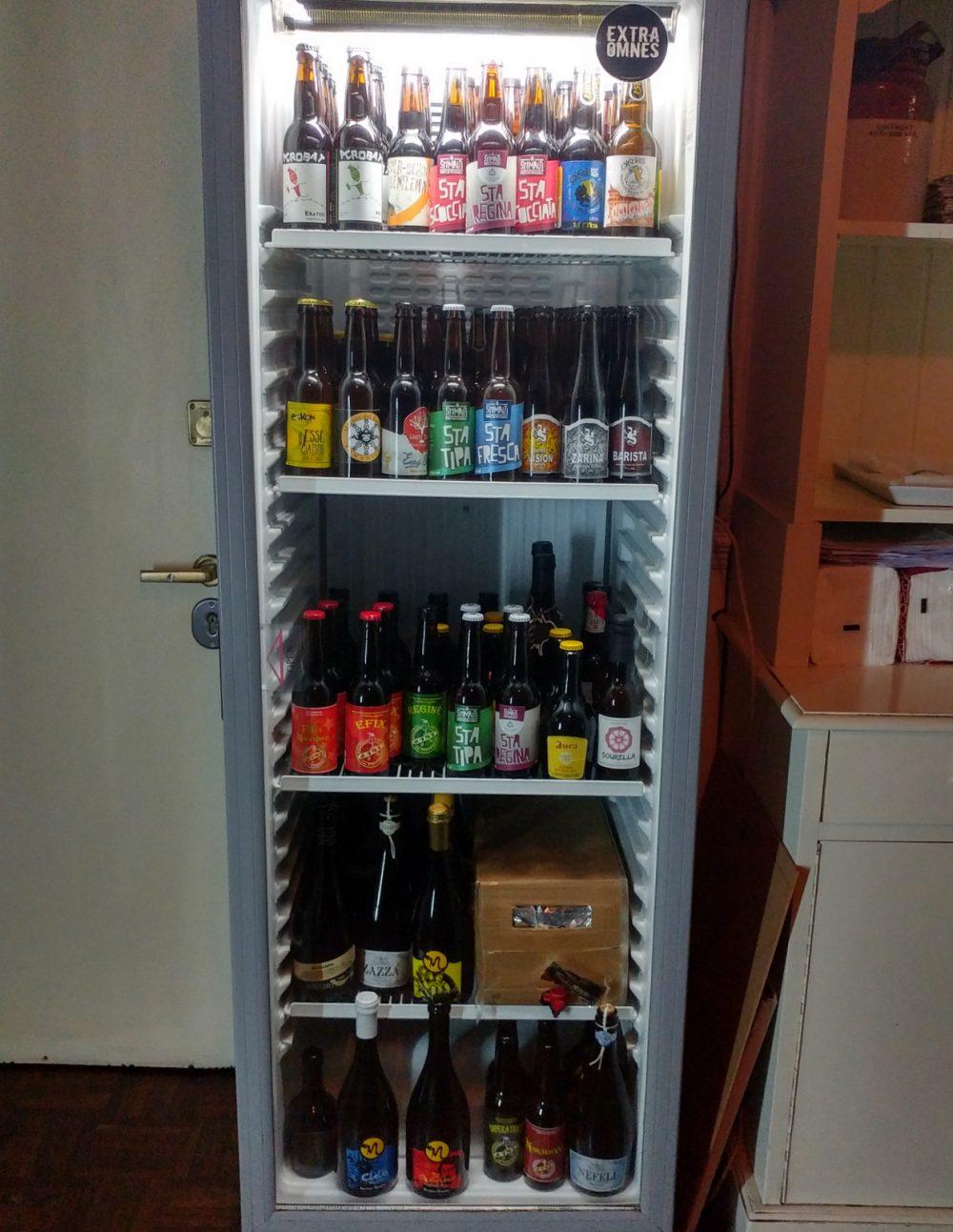 Campania OnTap da Scott Duff a Milano. Il frigo con le birre