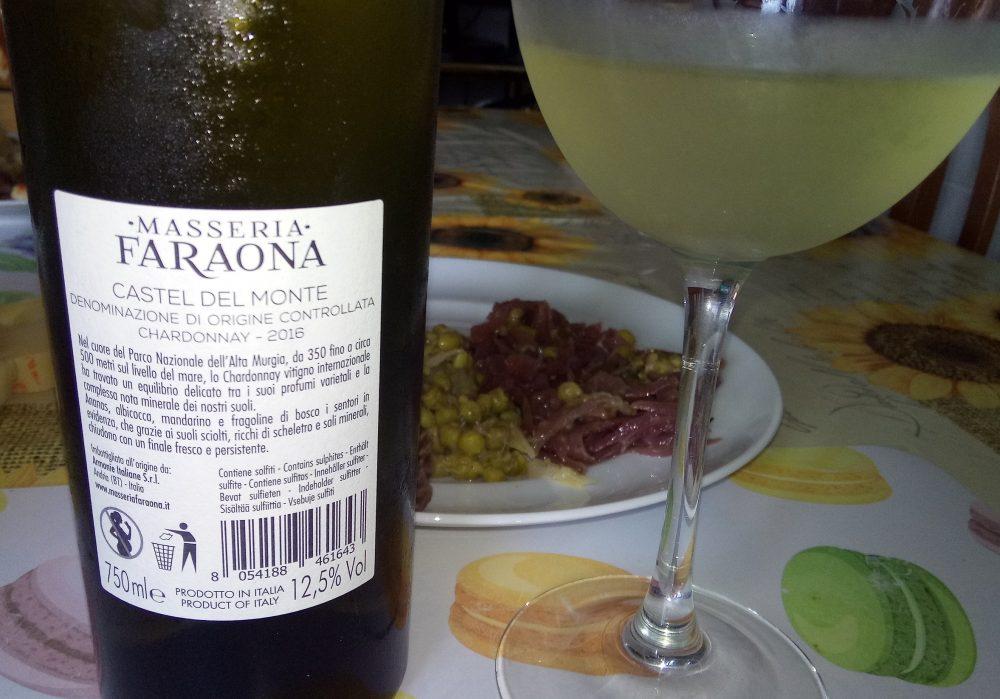 Controetichetta Chardonnay Castel del Monte Doc 2016 Masseria Faraona