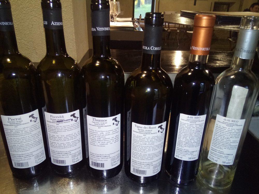 Controetichette vini azienda Cobellis