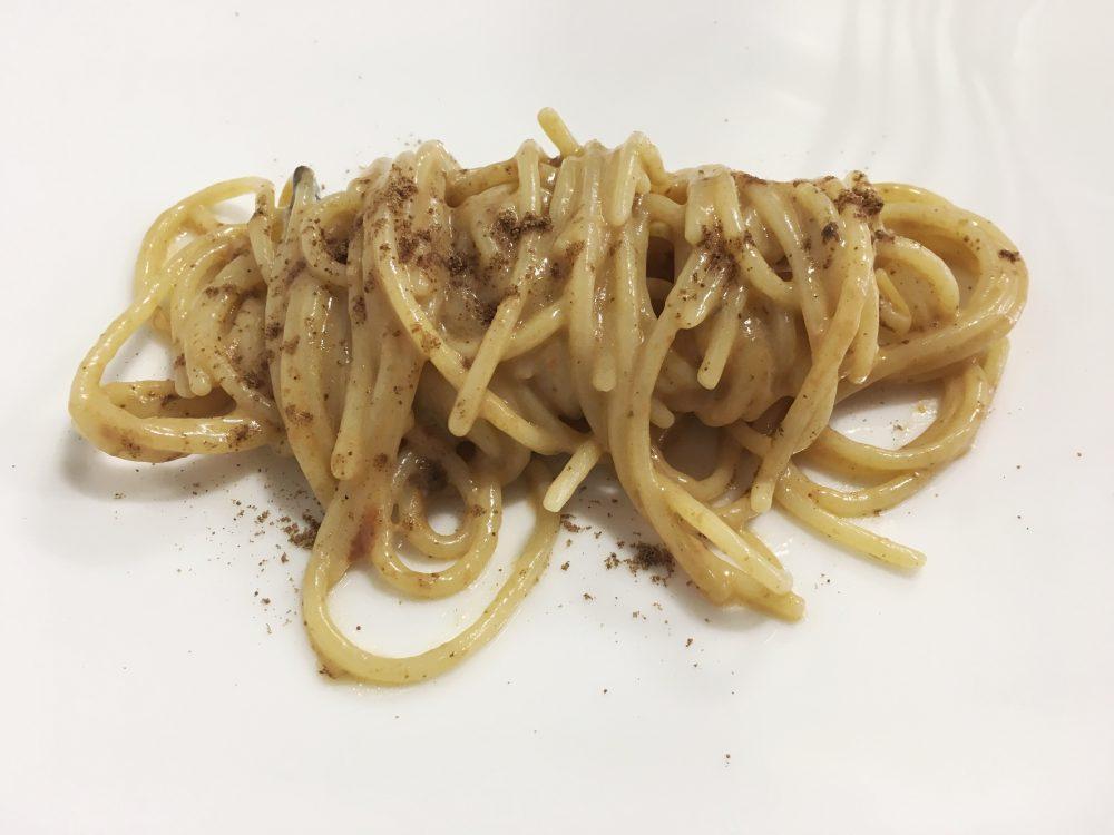 Cristian Torsiello - spaghetto burro affumicato e ricci di mare