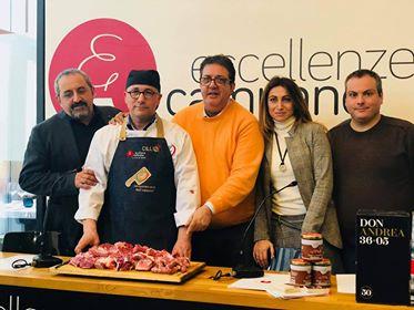 Da sx Giustino Catalano, Sabatino Cillo, Luciano Pignataro, Francesca Marino e Marco Contursi