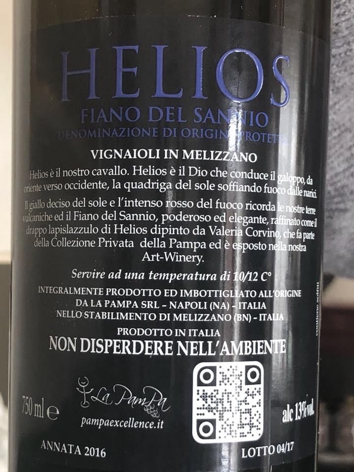 Helios 2016 Fiano Sannio dop La Pampa