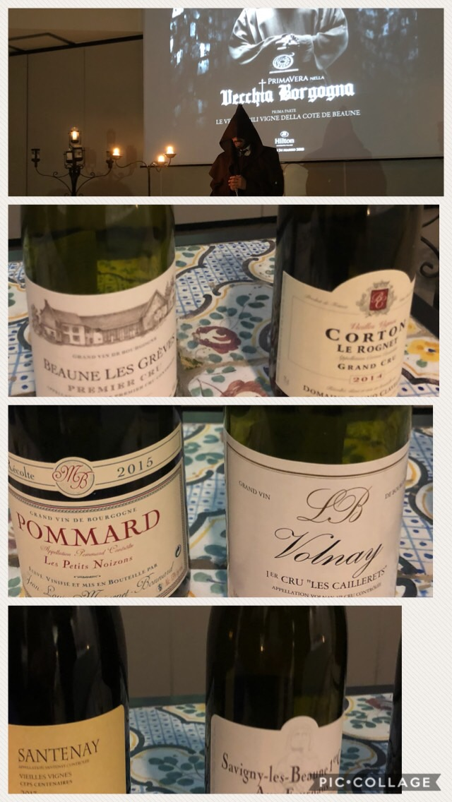 I vini della Cote de Beaune degustati a Sorrento